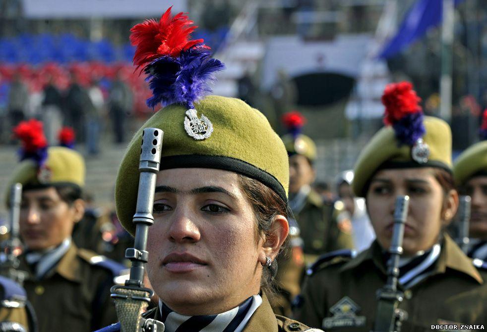 Индия: индийка на параде